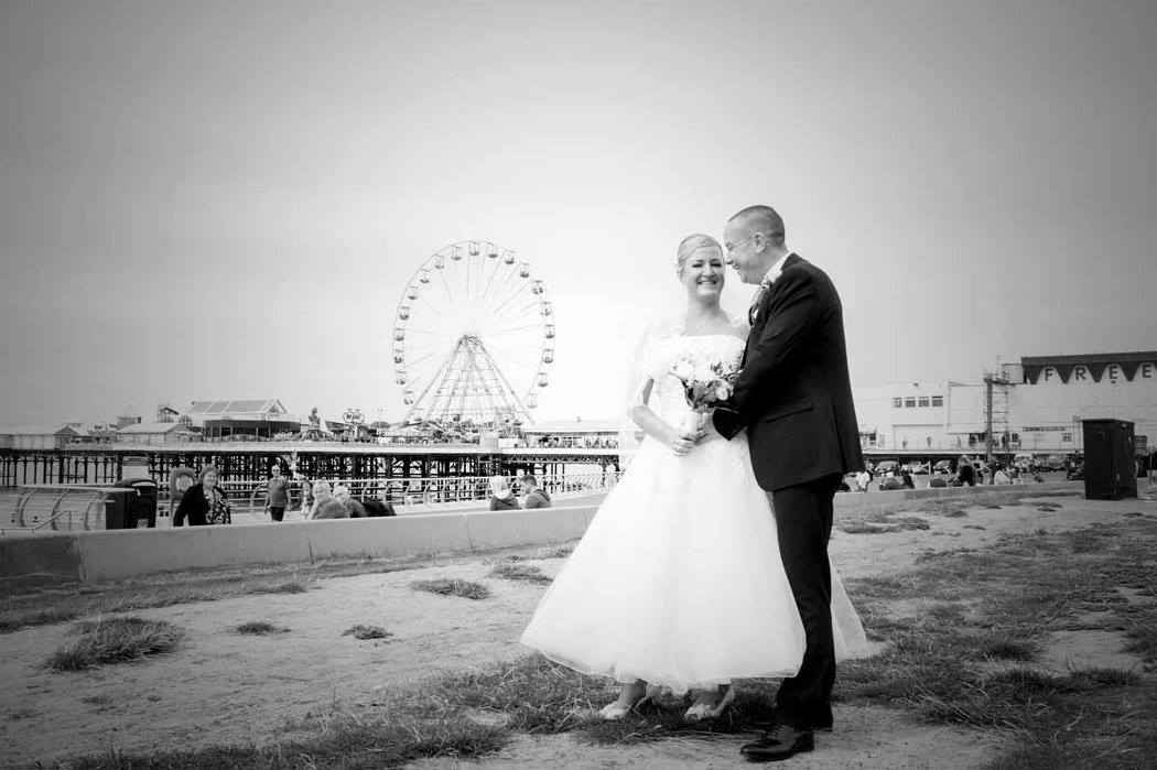 Blacckpool Wedding Photography by Happy Photography at Blackpool Big Wheel