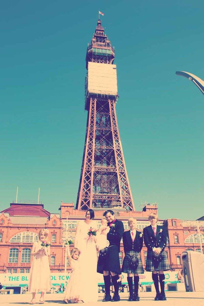 Blacckpool Wedding Photography by Happy Photography at Blackpool Tower